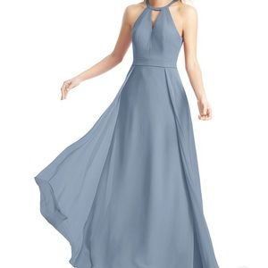 Azazie Melody bridesmaid dress in dusty blue